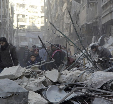 Trágica guerra en Aleppo